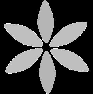 Mørk grå blomst